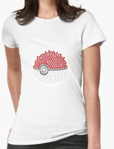 Pokemon Ball Dots Womens Fitted T-Shirt