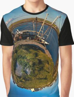 Fishing Boat, Killeany Pier, Inishmore, Aran Islands Graphic T-Shirt