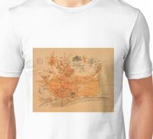 Map Of Barcelona 1911 Unisex T-Shirt