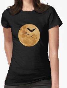 Halloween - Moon Womens Fitted T-Shirt