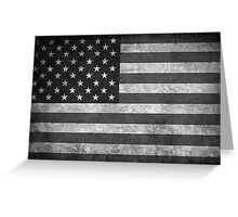 Old Glory BW  Greeting Card