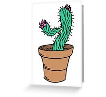Leaning Cactus Greeting Card