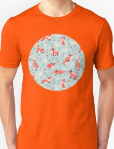 Fox and Bunny Pattern Unisex T-Shirt