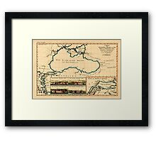 Map Of The Black Sea 1803 Framed Print