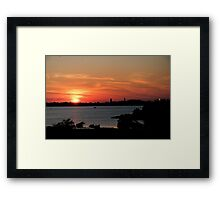 Swirling Sunset Framed Print
