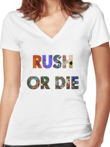 Realm of the Mad God - Rush or Die Women's Fitted V-Neck T-Shirt