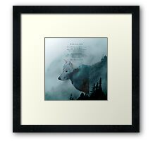 Wilderness Wolf and Poem Framed Print