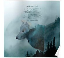 Wilderness Wolf and Poem Poster