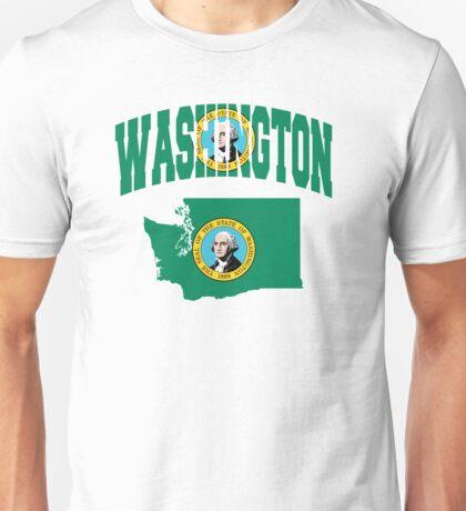 Washington Flag in Washington Map Unisex T-Shirt