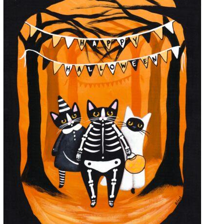 The Halloween Cats Sticker