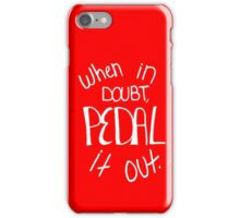 Pedal it Out Red iPhone Case/Skin