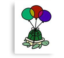 Balloon Turtle Canvas Print