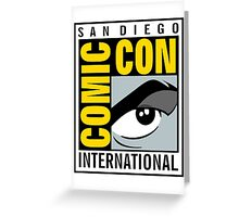 Comic Con Greeting Card