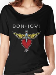 bon jovi best logo vector dolly Women's Relaxed Fit T-Shirt