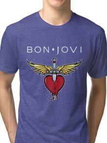 bon jovi best logo vector dolly Tri-blend T-Shirt