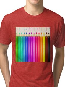 Coloured pencils Tri-blend T-Shirt