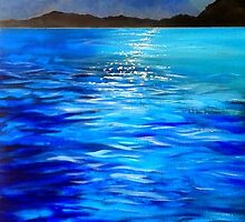 Moonlight Over Lake Como by Vikki Hastings