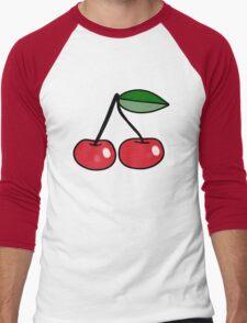 Cute Cherries Men's Baseball ¾ T-Shirt