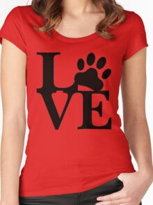 LOVE DOG PAW Women's Fitted Scoop T-Shirt