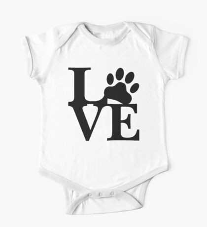 LOVE DOG PAW One Piece - Short Sleeve