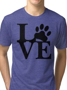 LOVE DOG PAW Tri-blend T-Shirt
