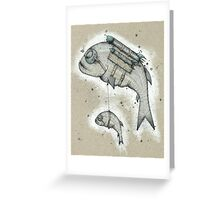 Rocket Taxi Greeting Card