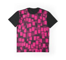 3D Pink Poker Cards Pattern  Graphic T-Shirt