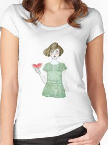 Genevieve Women's Fitted Scoop T-Shirt