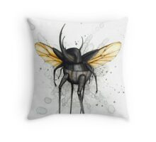 Beetle Walker Throw Pillow