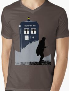 Skaro in Silhouette  Mens V-Neck T-Shirt
