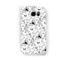 Cryptid Pattern (White Background)  Samsung Galaxy Case/Skin