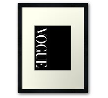 VOGUE Magazine Typography Framed Print