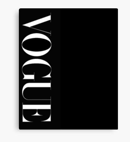 VOGUE Magazine Typography Canvas Print