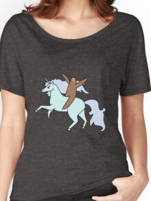 Sloth Riding a Unicorn Women's Relaxed Fit T-Shirt