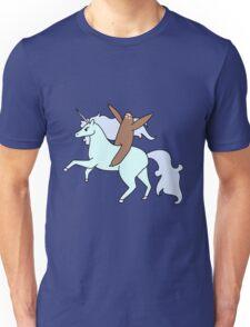 Sloth Riding a Unicorn Unisex T-Shirt