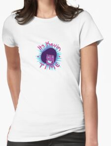 It's Kevin Time Party Colors Womens Fitted T-Shirt