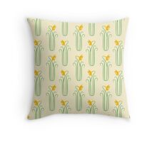 Pretty Yellow Spring Daffodils Throw Pillow