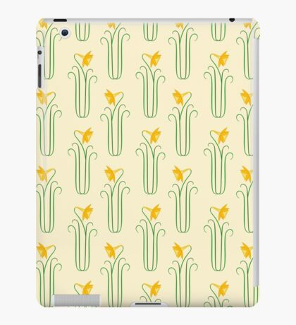 Pretty Yellow Spring Daffodils iPad Case/Skin