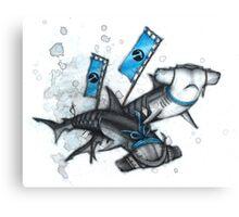 Katana Sharks Canvas Print