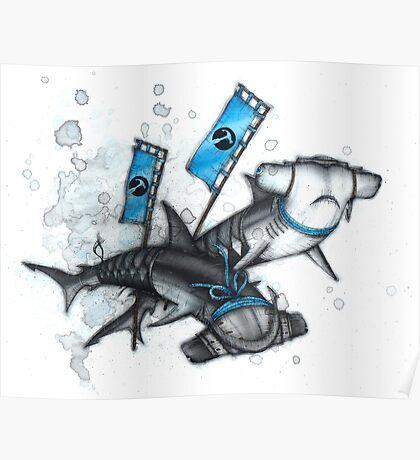 Katana Sharks Poster