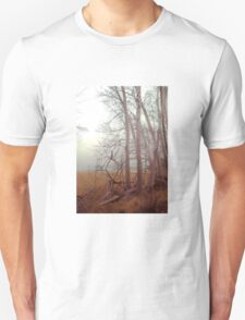 Ash trees and mist  Unisex T-Shirt