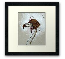 Samurai Bird Framed Print