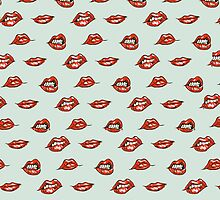 Mint Lips Pattern by rbx11