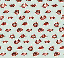 Mint Lips Pattern by rbx11