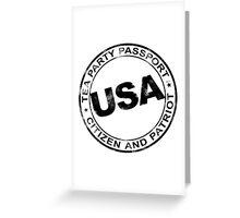 Tea Party Passport Greeting Card