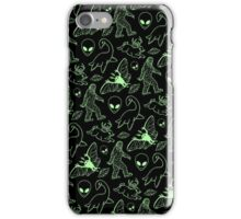 Cryptid Pattern (Green Lines) iPhone Case/Skin