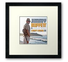 Jimmy Buffett The Coral & Reefer Band Tour 2016 Framed Print