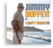 Jimmy Buffett The Coral & Reefer Band Tour 2016 Canvas Print