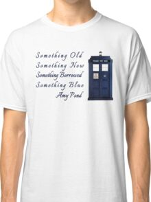 Doctor Who - Amy's Wedding Something Blue Classic T-Shirt