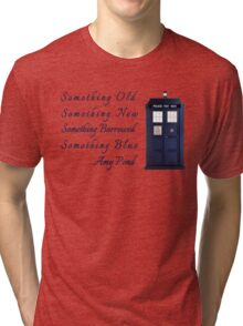 Doctor Who - Amy's Wedding Something Blue Tri-blend T-Shirt